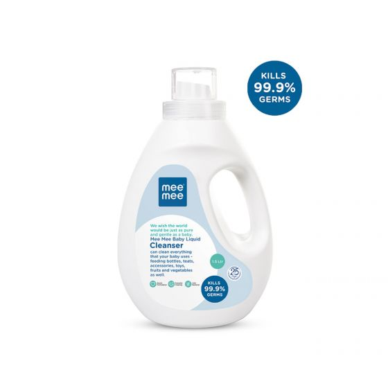 Mee Mee Anti-Bacterial Baby Liquid Cleanser for Fruits, Bottles, Accessories & Toys - 1.5L