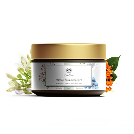 Seer Secrets Mother of Pearl & Volcanic Ash- Exfoliator for Dead and Dull Skin Cells, 50g