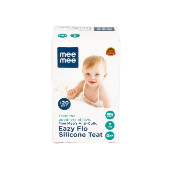 Mee Mee Anti-Colic Easy Flo Silicone Teat (Small - 2 pcs)