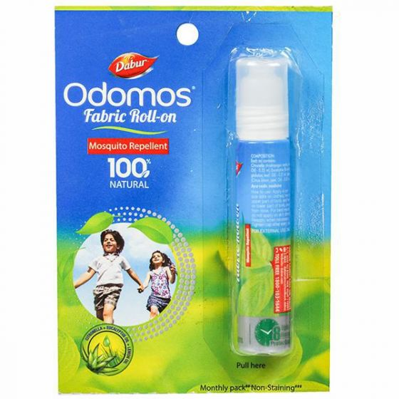 Odomos Fabric Roll On Mosquito Repellent - 8 ml