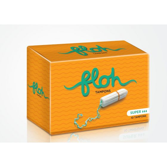 Floh Fda Approved Super Tampons For Women Heavy Flow - 10 Pieces