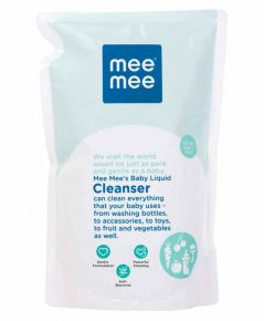 Mee Mee Baby Accessories And Vegetable Liquid Cleanser - Refill Pack - 1.2 Liters