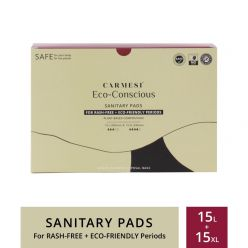 Carmesi Eco-Conscious - Sanitary Pads For Rash-Free + Eco-Friendly Periods (15 Large + 15 Xl)