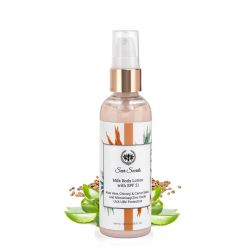 Seer Secrets Aloe Vera, Chironji & Carrot Seed Spf 21 Milk Lotion- For Sun Damaged Skin, 100 ml