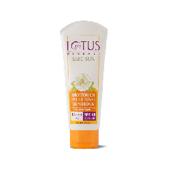 Lotus Herbals Safe Sun Dry-Touch Whitening Sunblock SPF 40 PA+++, 100g
