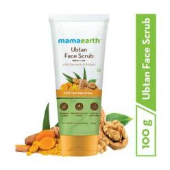 Mamaearth Ubtan Face Scrub with Turmeric and Walnut for Tan Removal - 100g