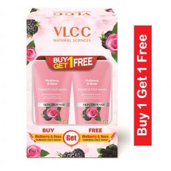Vlcc Mulberry & Rose Face Wash (Buy 1 Get 1)(Each 150ml)