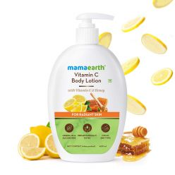 Mamaearth Vitamin C Body Lotion with Vitamin C and Honey for Radiant Skin – 400 ml