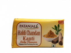Patanjali Haldi Chandan Kanti Body Cleanser 75 Gm (pack of 4)