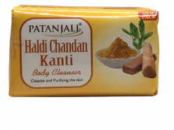 Patanjali Haldi Chandan Kanti Body Cleanser 150 G (pack of 3)